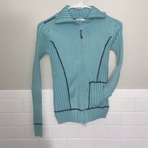 Athleta Light Blue Zip-up Sweater/Sweatshit